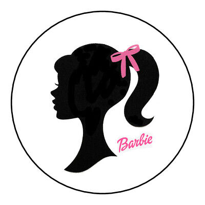 Custom Barbie birthday Favors Tags/Stickers  classic bow sticker](Barbie Stickers)