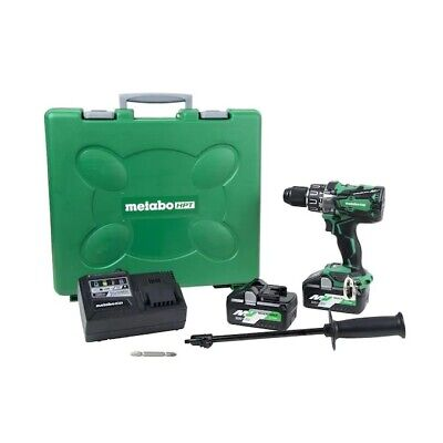 Brand New Metabo Hpt Hitachi Dv36da Multivolt 36 Volt Hammer Drill 2 Batteries