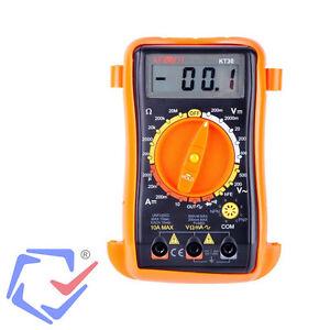 LCD Digital Multimeter Strom Messgerät  Voltmeter Spannung Widerstand AC DC KT30