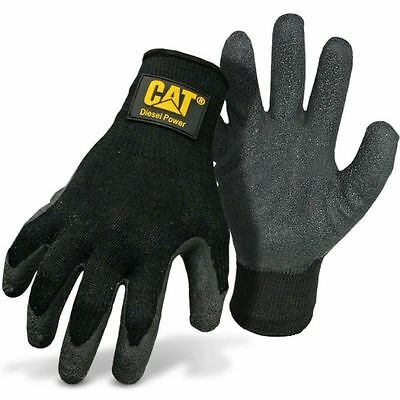 Cat Diesel Power Latex Palm Work Gloves Large
