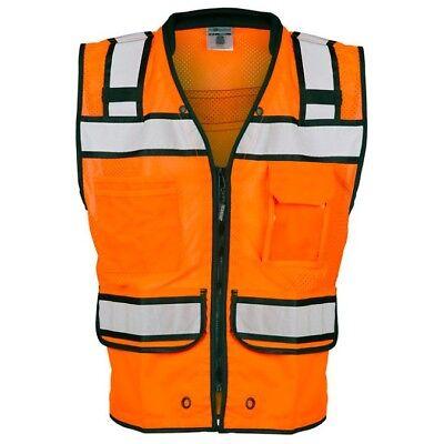 Ml Kishigo Class 2 Reflective Surveyor Safety Vest With Pockets Orange