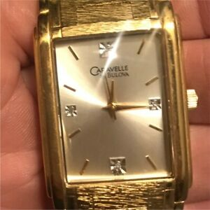Men's Gold Plated Watch with diamonds