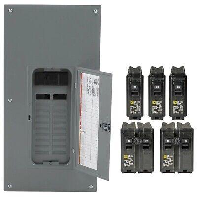 Square D 200 Amp 40-circuit 20-space Indoor Main Breaker Box Panel Load Center