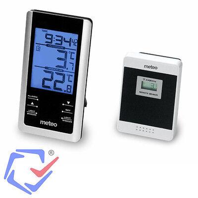Wetterstation mit Außensensor Thermometer Display Wecker Innen Außen Temperatur