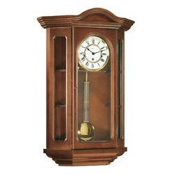 (New!) FAULKNER (Cherry) Wall Curio Clock Hermle Clocks mechanical 70305-N90341