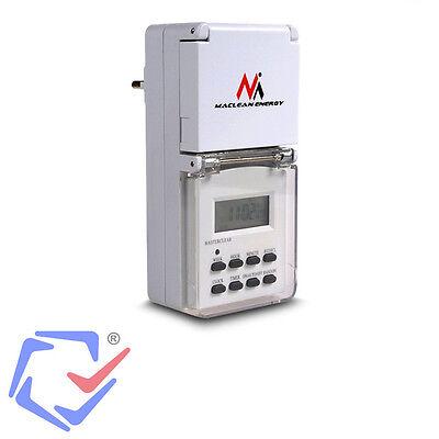 Digitale Zeitschaltuhr IP44 Spritzwassergeschützt 10 Programme Outdoor 230V 16A