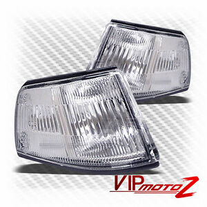 Honda-88-89-CIVIC-4DR-D15-D16-Crystal-Clear-Corner-Turn-Signal-L-R-Bumper-Lamp