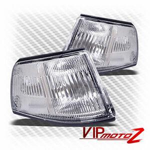 Honda-88-89-CIVIC-4DR-D15-D16-Crystal-Clear-Corner-Turn-Signal-L-R-Bumper-Lamp