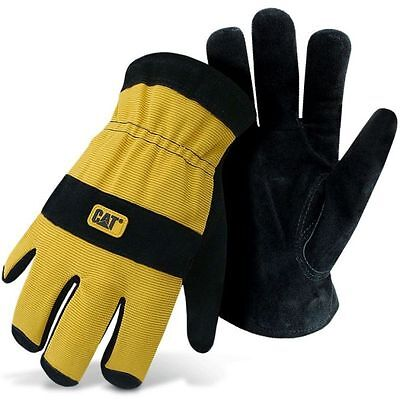 Caterpillar Cat Split Leather Lined Insulated Winter Work Gloves Large ()