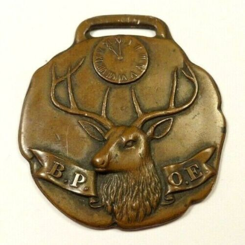 VINTAGE BPOE WATCH FOB Benevolent and Protective Order of Elks B.P.O.E.