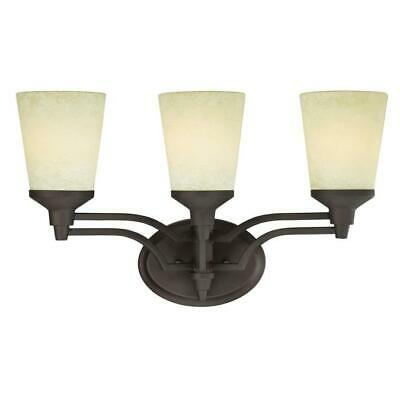 3 Light Wall Oil Rubbed Bronze Finish With Smoldering Scavo Glass