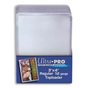 400-ULTRA-PRO-3x4-Sports-Card-Toploaders-FREE-SLEEVES-FREE-SHIPPING