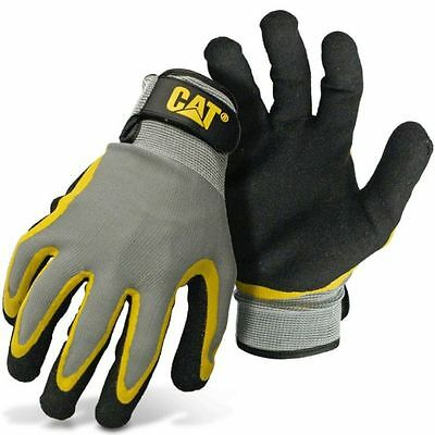 Caterpillar Cat Double Coated Latex Palm Work Gloves Large
