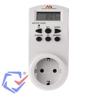 Programador Temporizador eléctrico digital 16 intervalos 220/240V16A Interruptor