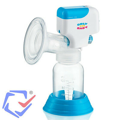 Einzelmilchpumpe Elektrische Milchpumpe inkl. Babyflasche Akku & Netzbetrieb OFB