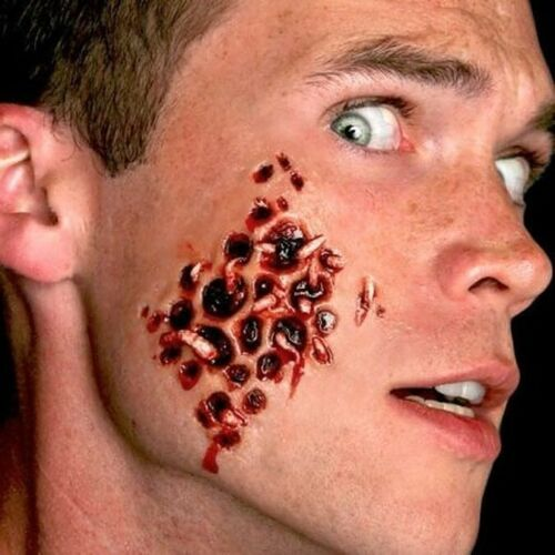 Tinsley Transfers Trypophobia w/ Maggot Holes 3D Special Effects Tattoo FX