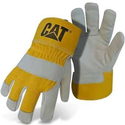 Caterpillar Cat Premium Split Leather Work Gloves Large ()
