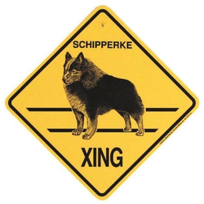 Schipperke Dog Crossing Xing Sign New