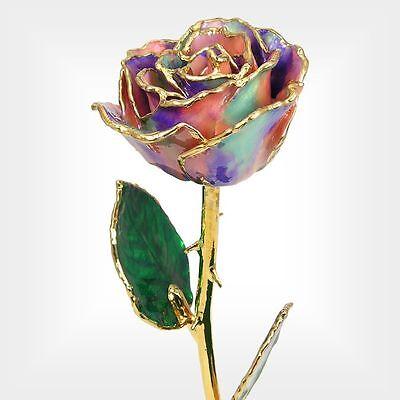 24k Gold Dipped Opal Real Rose (Free Christmas Gift Box)