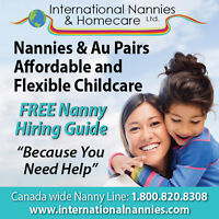 We Have Excellent Nannies Waiting to Join Your Family!