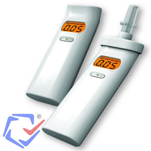 Digitaler Alkomat Alkoholtester Mundstücke Promilletester LCD Beleuchtet +