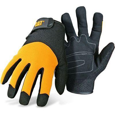Caterpillar Cat Padded Palm Mesh Back Work Gloves Medium