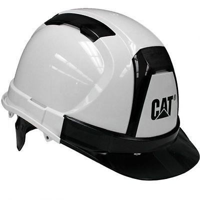 Caterpillar Cat Hard Hat White Ratchet Suspension