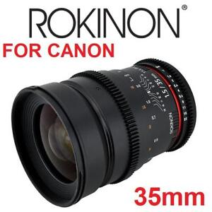 NEW ROKINON CINE LENS FOR CANON CV35-C 189107542 35mm T1.5 ASPHERICAL WIDE ANGLE FOR CANON EOS DSLR PRIME PHOTOGRAPHY
