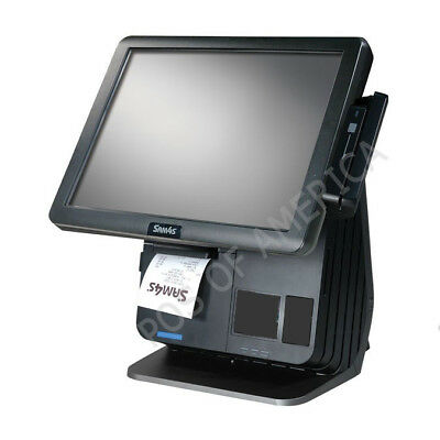 Sam4s Spt-7650 All-in-one Touch Screen Terminal Pos Windows 10 With Printer Msr