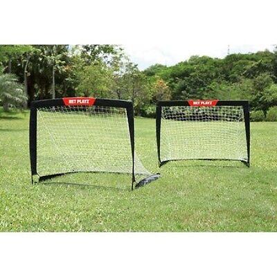 Soccer Goals For Backyard Training Set of 2 Portable 4