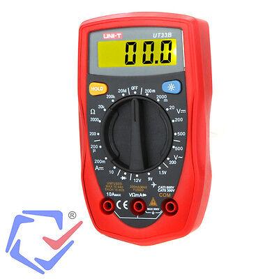 LCD Strommesser Digital Multimeter Voltmeter Messgerät Voltmeter AC DC UNI-T