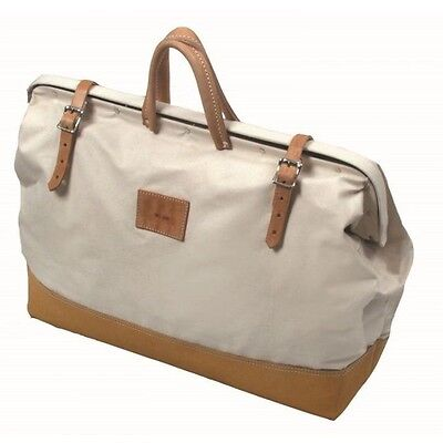- Kraft Tool Deluxe Leather Bottom Canvas Masonry Tool Bag Made in the USA