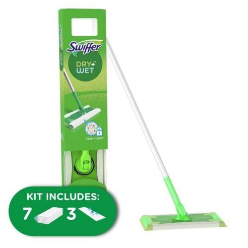 Swiffer Sweeper Cleaner Dry and Wet Mop Starter Kit for Cleaning Hardwood Floors