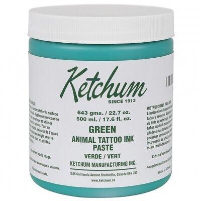Ketchum Tattoo Ink Green Paste Livestock Pigs Pets 22.7oz.