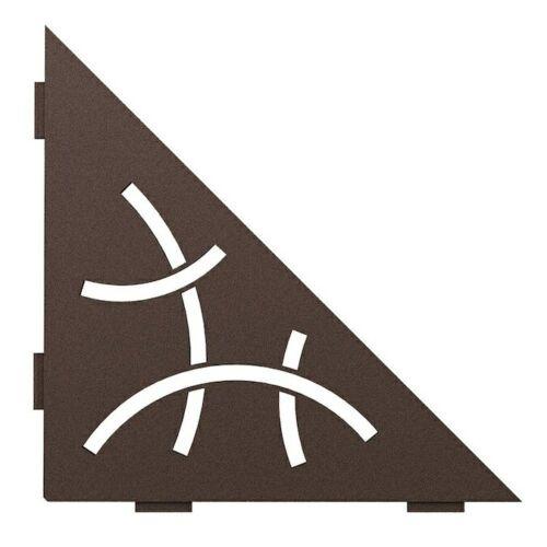 Schluter Triangular Corner Shelf-E Curve Design Bronze SES1D6TSOB Accessory
