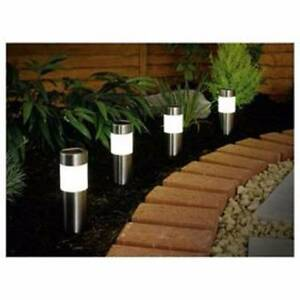 8x Stainless Steel Bollard Solar Light Tube Pole L2207s Athelstone Campbelltown Area Preview