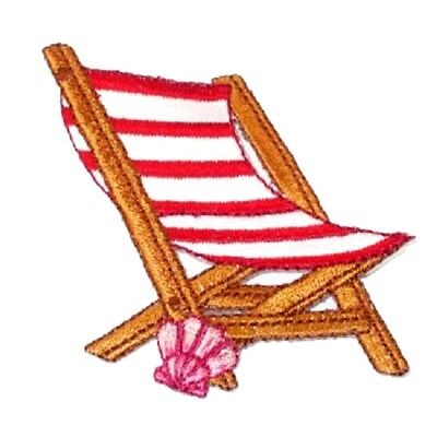 Kids Embroidered Chair (IRON ON PATCH APPLIQUE BEACH)