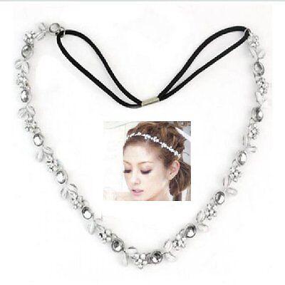 Stirnband Blumen Kette Hochzeit Kommunion Statement Haarband Haarkette Kopfkette