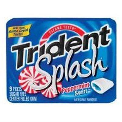 Trident Splash Sugar Free Gum Peppermint Swirl 10 pack (9 ct per (Sugar Free Splash)