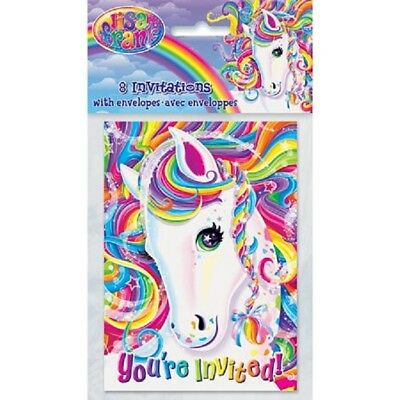 Horse Party Invitations (Lisa Frank Party Invitations Rainbow Unicorn Horse Birthday Majesty Kids 8)