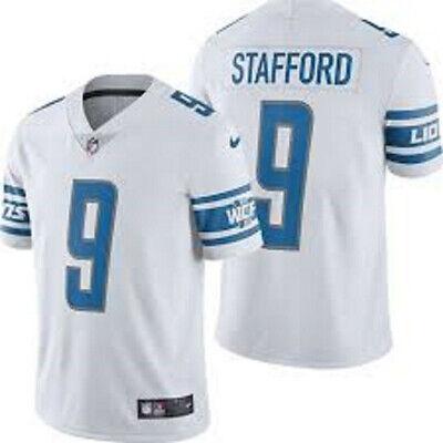 STAFFORD camiseta de la NFL LIONS color blanca.Talla S.