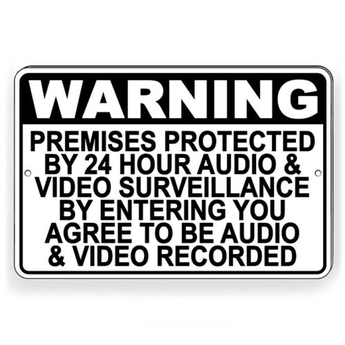 Protected By Recorded Audio & Video Surveillance Metal Sign Decal 6 SIZES S069