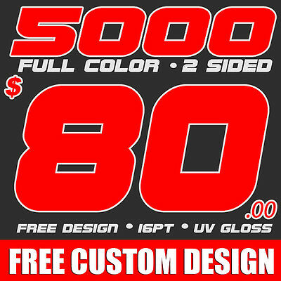 5000 Full Color Business Cards Printing & Design! UV Gloss!  FREE SHIPPING