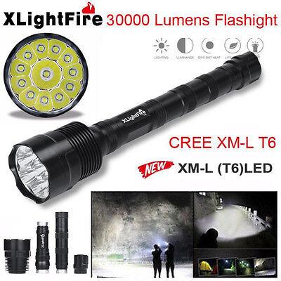 38000LM  XLightFire XM-L T6 LED 5-Mode Flashlight Super Bright Torch Light 18650