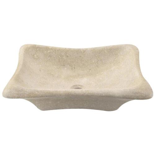 MR Direct Galaga Beige Marble Vessel Sink Irregular Bathroom Sink 22.5