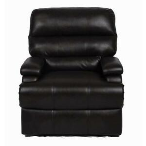 Lifestyle Solutions Joyce Traditional Faux Leather Recliner Chair - Black  (Assembled)