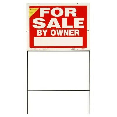 House For Sale By Owner Sign With Frame. Double Sided