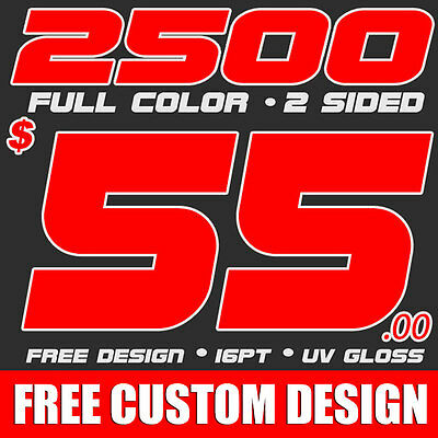 2500 Full Color Business Cards Printing & Design! UV Gloss!  FREE SHIPPING