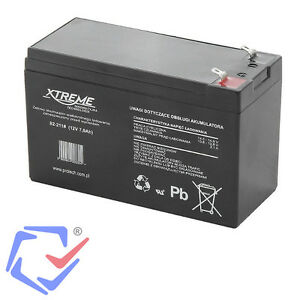 Bleiakku 12V 7Ah AGM Blei Akku Gel Akkus Batterie Wartungsfrei Luftdicht Xtreme