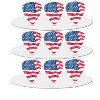American flag style Plectrum/Pick, Medium 0.71 Pack of 5